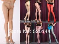 Men Bodysuit Tight Sale Seamless Supper Thin Shiny Glossy Pantyhose Sheer to Waist Low Rise Shine Nylon Tights Silk Panty hose Stockings 10 Denier