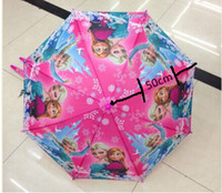 Wholesale 2014 new arrival candy Frozen Umbrella Frozen Princess Elsa amp Anna Children Umbrella cm Frozen Series xqx001