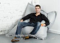 Wholesale Grey color Extra Large Waterproof beanbag Big cushion pillow bean bags