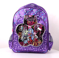 Backpacks Nylon Men 2014 New Arrive 6 styles Fashion Girls Monster High School Bags Girls Cartoon 3D Butterfly Schoolbag Backpack Messenger Bags Gift for Kid