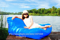 Wholesale float on water relax on land in function Giant capacity bean bag lounge outdoor beanbag water floats NO as color list BLUE