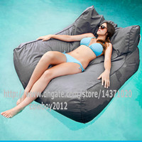 lounges pool - float on water relax on land in function Giant capacity bean bag lounge outdoor beanbag cover water floats POOL SIDE Grey