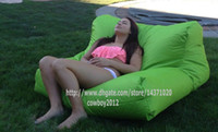 Wholesale float on water relax on land in function Giant capacity bean bag lounge outdoor beanbag water floats POOL SIDE GREEN