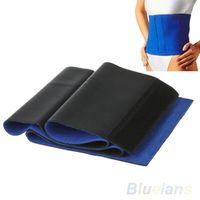 Women Bodysuit Yes Hot Slimming Waist Belt cinchers Trimmer Exercise Weight Loss Burn Fat Sauna Body Shaper Blue