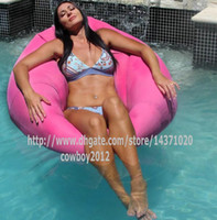 Wholesale PINK floating bean bag chair NO AIR PUMP NEEDED COVER ONLY Floating Pool Lounger Durable Outdoor Bean Bag Style