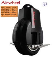 Wholesale New Airwheel Q3 WH self balancing Electric Unicycle scooter bicycle Authentic with v v charger option