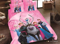 Wholesale Pink FROZEN Bed set CHILDREN CARTOON BEDDING SETS ELISA AND ANNA DESIGNS VERY HOT SALE Single Queen king Twin size AA