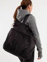 Wholesale Hot sale Women s Fashion Brand LuLulemon tote Yoga Bags Cheap Women Active Casual Gym LuLu Lomen shoulder Handbag