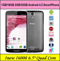 Quad Core Android Inew INEW i6000 OGS 2G RAM 32G ROM MTK6589T Quad Cores 1.5GHz 6.5 Inch IPS Full HD 1920*1080 3G WCDMA Android 4.2 Smart phone