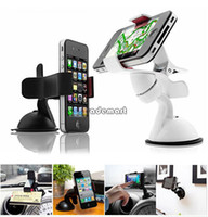 Cheap Universal Windshield 360 Degree Rotating Car Mount Bracket Holder Stand for iPhone HTC Mobile Phone GPS #005 SV003447