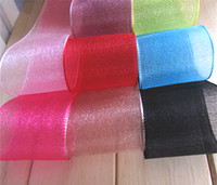 Wholesale 38MM Inches in Width Gauze Ribbon Trim for Gift Box Wedding Party Yarn Ribbon YARD Roll