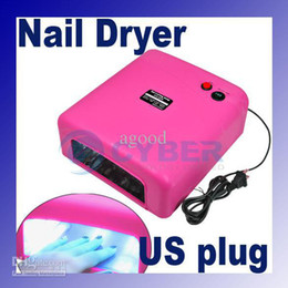 Wholesale Nail Lamp Dryer W UV Gel Curing x w Tube Light Bulbs Rose V A Hz US Plug