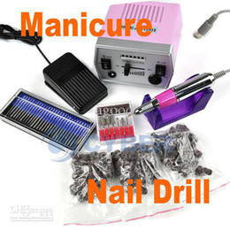Wholesale Pro Electric Nail Art Drill File Improved Overheat Vibration Manicure Set