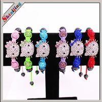 Beaded, Strands shamballa bracelets - Wholesales NEW Item Mix Colors Hello kitty bracelet Shamballa bracelet Children Jewelry