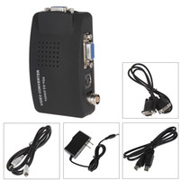 Wholesale TV BNC S video to VGA Converter Adapter Digital Box Support P