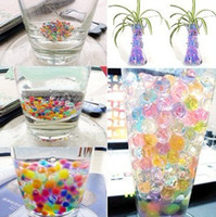 Wholesale 500 x g pack colors Magic Plant Crystal Soil Mud Water Beads Pearl ADS Jelly Crystal ball soil colors H101