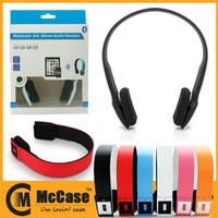 Wholesale Colorful Bluetooth V3 Stereo Audio Wearing Wireless Headphone Headset Earphone For iPhone iPad Samsung Smartphone Tablet With Retail Box
