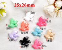 Resin Animals 25x26mm Free Shipping 3000pcs Flatback Resin 25x26mm Embellishments Hair Bow Center Kids Crafts DIY R001