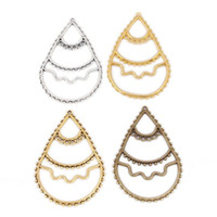 Other Pendant Zinc Alloy Jael handmade accessories teardrop-shaped earrings wholesale fashion jewelry beads ( 20 per pack ) 3770 #