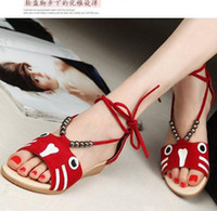 Women Spool Heel PU 2014 Summer Women shoes Flock Beading T-Strap Trifle Wedges Sweet Casual Women Sandals Euro size 35-39 Red Blue Black QL4100