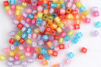 Unisex 5-7 Years Rainbow Big discount Alphabet Letter Charms Beads Accessories For Rainbow Loom Rubber Bands Bracelet Craft