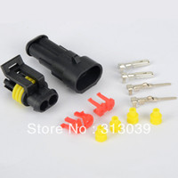 Wholesale 10pcs line auto Plug Waterproof Sealed Wire Connector Terminal Socket Snowmobile kit G0114