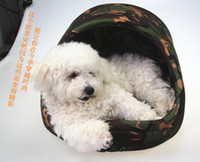 Wholesale New camouflage Pet Dog Cat House Soft Home Indoor Mat Cushion Doghouse S M L separated Mat and house