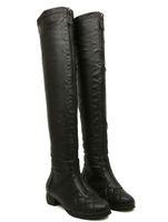 designer sheepskin boots - European Designer Sheepskin Leather Thigh High Boots Women Fall High Fashion Soft Long Shoes