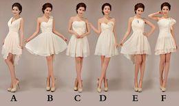 Short Junior Bridesmaid Dresses 2019 new design fashion chiffon ball gown strapless Bridesmaid Gown custom made