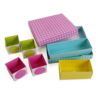 Bamboo Sundries Eco Friendly High Quality Essential Cosmetic Paper Board Box In Box Storage Child Gift freeshiping