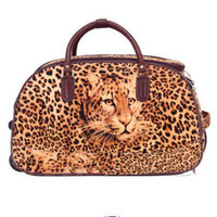 Wholesale classic duffle bag on wheels of set of tiger material