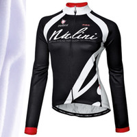 Wholesale Supply nalini hot Fleece Women s long sleeve shirts Winter Cycling Ciclismo Maillot Gate Tunic riding apparel