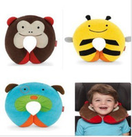 Cloth Unisex 0-12 Months,13-24 Months Cartoon U Pillow Back Cushion Care Pillows Cute Animal Pillow baby plush toy