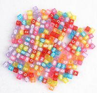 0-12M Multicolor Metal 1000 pcs DIY Rubber Loom Bands Kit Charm Bracelet Refills Cube Letter Beads Pendants Accessories Charms For Kids10 packs Lot
