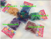 Link, Chain Silicone Halloween 2014 Rainbow Loom bands Refill bands(200 loom bands+12 clips) 50 Colors Silicone Loom Bands Childrens Toys and DIY Bracelets 500bags lot