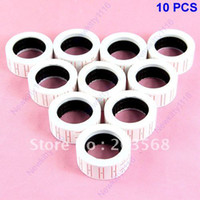 New In-Mould Label Paper Dropshipping 10 Rolls Price Labels Paper Tag Mark Sticker For MX-5500 Price Gun Labeller+Free Shipping