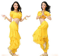 Wholesale For Big Girls Ladies Indian Dance Performance Clothing Belly Dance Costume Full Sets Dress For Childrens Girls Ladies M0188