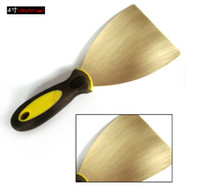 Wholesale 100 mm brass putty knife construction tool