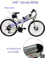 Wholesale DHL quot quot w Foldable bottle Electric bicycle folding electric bottle bike with various colors for option