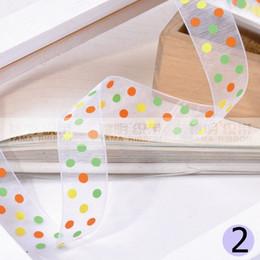 Wholesale 5 quot mm Fancy Dots Organza Printed Ribbons Sheer Gift Packing Ribbon yard