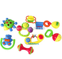 Wholesale WJ baby toys baby rattle series piece set gift music corful toys set c