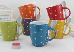 Wholesale Stoneware Ceramic Mug with Spoon