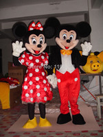 Wholesale TWO Mickey Mouse mascot costume Minnie Mouse mascot costume Adult Size Cosplay Costume