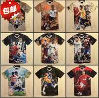 Men world cup soccer t-shirts - 2014 Brazilian World Cup soccer uniform sporting t shirts international big male money short sleeve