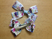 Wholesale 50pcs Frozen Hair Clips Children Frozen Hair Accessories Frozen Hair Bows