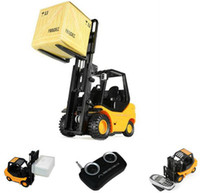 Wholesale Desktop Crane Remote control cars REMOTE CONTROL MINI FORKLIFT RC Truck RC constrction toy407