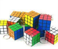Factory directly sales Keychain Rubik' s cube 3x3x3cm Pu...