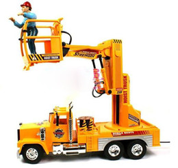 Wholesale High simulation kids toy truck mobile hoist truck large strong power Non toxic materials color box training future engineer407