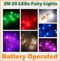 Wholesale New M LEDs Battery Operated Mini LED Copper Wire String Fairy Sparkle Lights Party Xmas pcsMOQ
