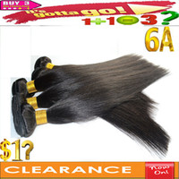 Wholesale Clearance Sale Virgin Human Hair Silky Malaysian Human Hair Weave Remy Hair Extensions inch Straight Lady s Double Weft